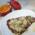 Côte échine de porc sauce robert ou sauce charcutière
