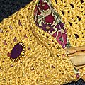 Pochette jaune crochet 4
