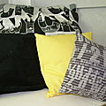 coussins pour une chambre ambiance NYC