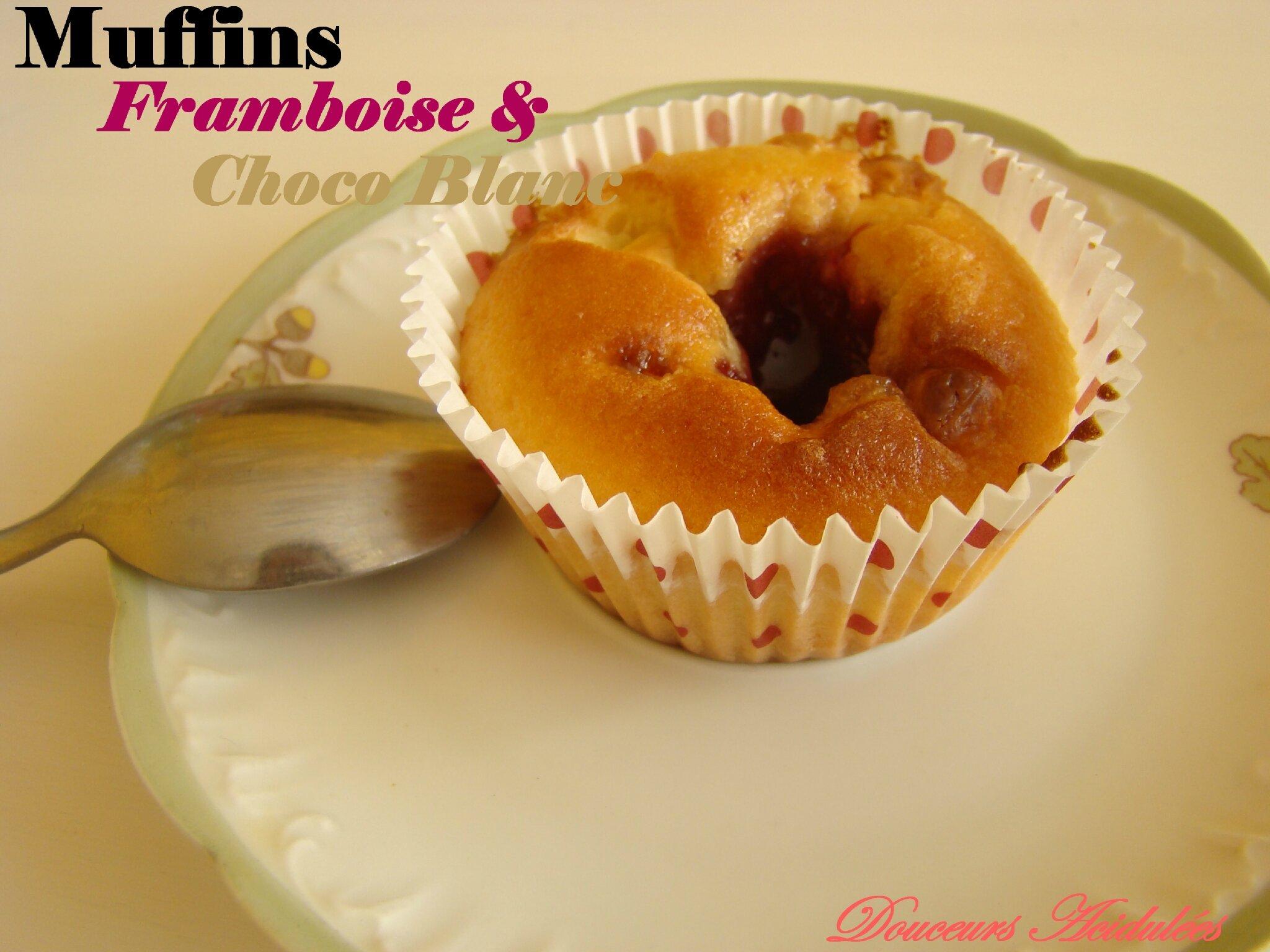 Muffins Framboise & Choco Blanc