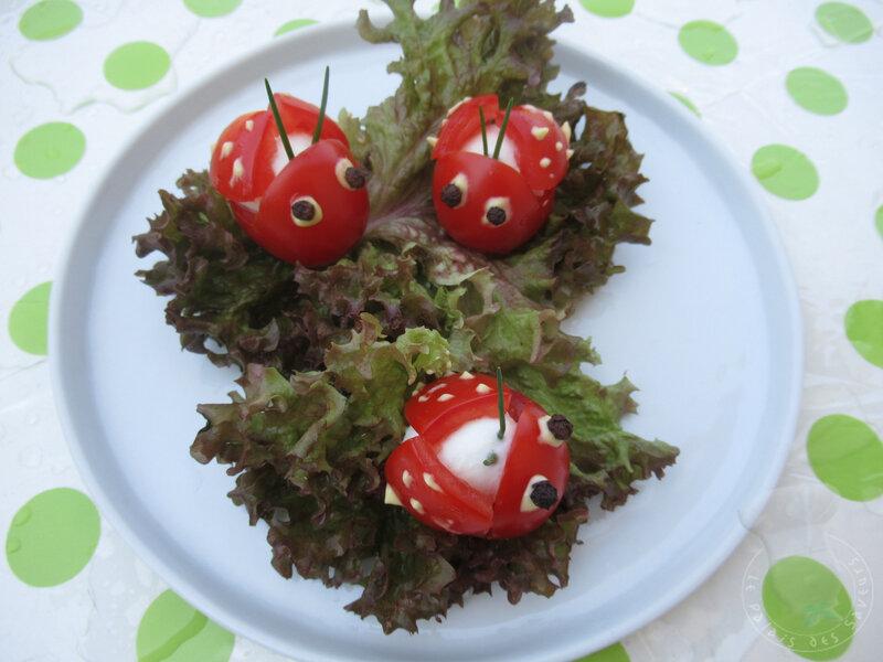Coccinelles sur tomates
