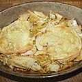 Gratin de coquillettes à la morue et fromage à raclette
