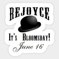 BLOOMSDAY JUNE 16 REJOYCE JAMES JOYCE - Bloomsday - Sticker ...