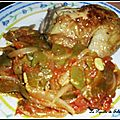 Haricots plats à l'oignon et tomates (loubia b'sel / tomatiches)
