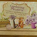 Plaque pour le jardin