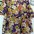 Marthe japonisante dans une vieille robe