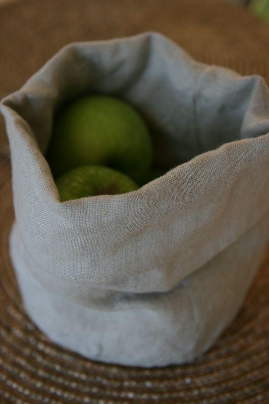 Panier à pain, à fruits, à coton....en lin beige