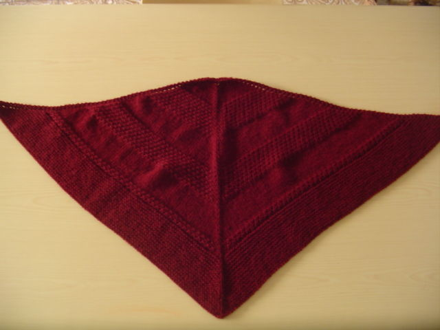 Textured Shawl 2 / Arena de Trio Wolle