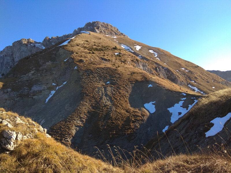 la montée au Mont Trelod