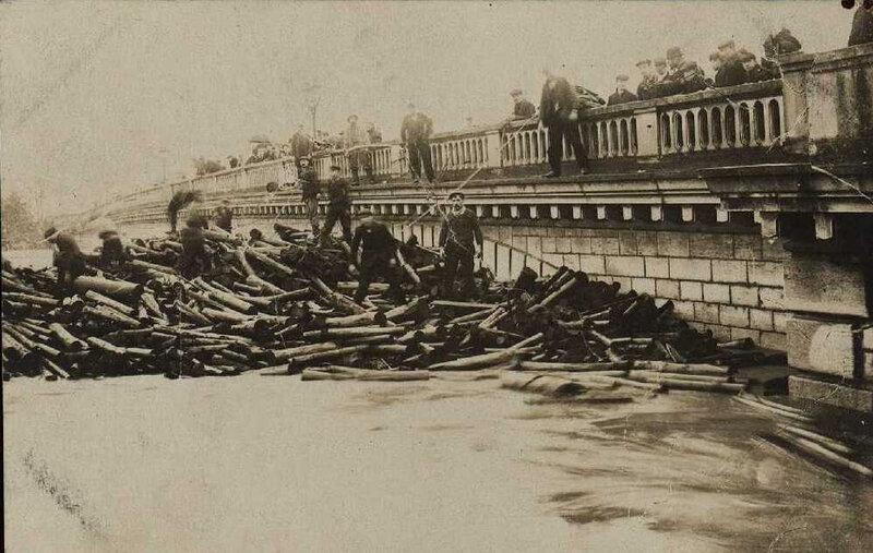 inondation 1910 pont république