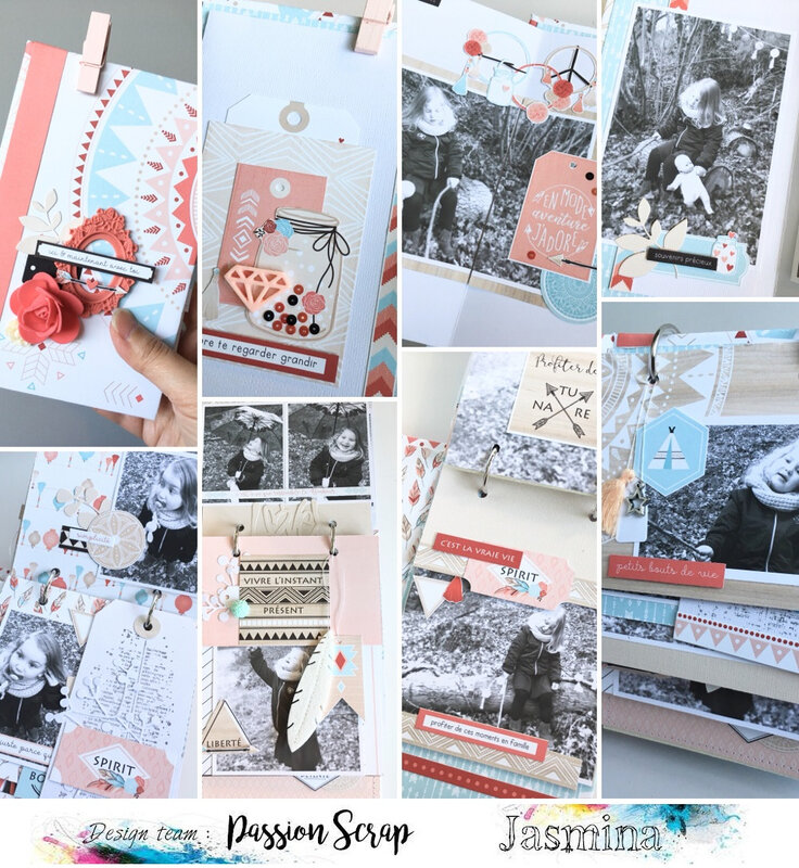 Mini Album par Jasmina pour Passion Scrap - Kit Hippie chic