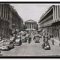 Rue Royale et église de la Madeleine - datée 1956