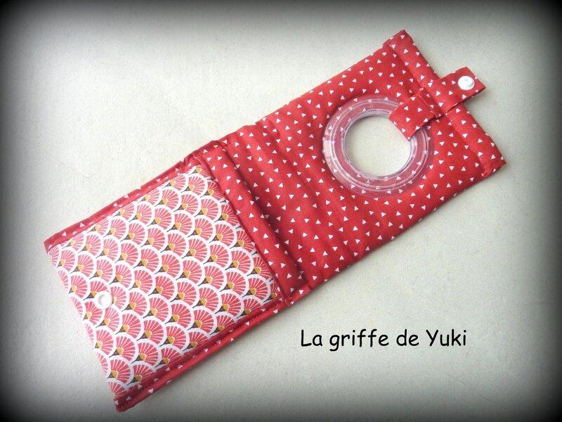423 - Pochette chargeur téléphone rouge blanc (3)