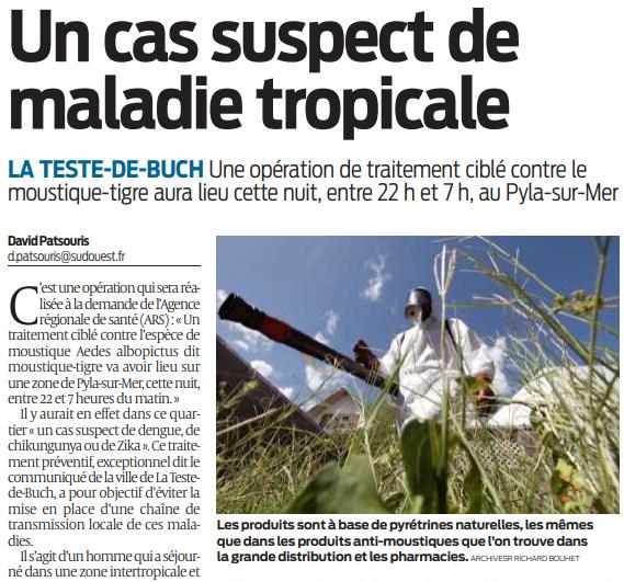 2020 09 28 SO Un cas suspect de maladie tropicale