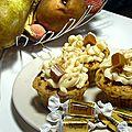 Cupcakes poire/nougatine, caramel au beurre salé
