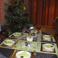 Ma table de noël... en brun, vert et or