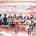 dessin d'audience