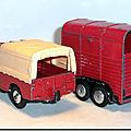 Corgi Toys #102 Pony Trailer Red Black Version 1 K