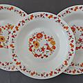 Vintage ... assiettes creuses arcopal * marguerite et tournesol