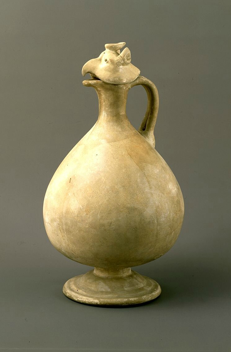 White porcelain phoenix-head ewer, Tang Dynasty, 7th century