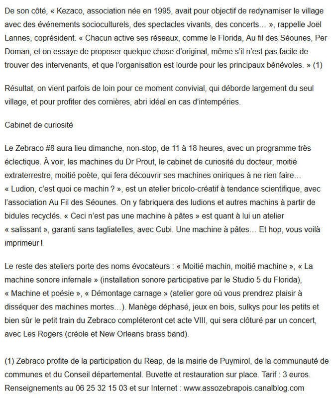 Article Sud-Ouest 6 avril 2019 2