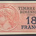 Dimension : un 18 francs rouge