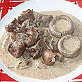Rognon de bœuf et champignons au vin blanc