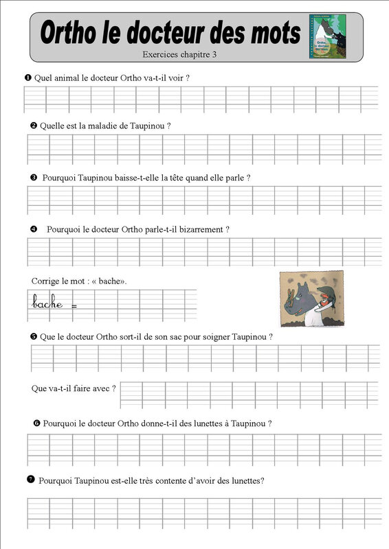 ortho 3 exercices baptiste