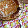 Gratin pamplemousse/rhubarbe à la crème d'amande