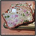 Cake lardons/olives vertes/féta/petits pois