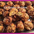 Minis muffins de polenta au magret et tomates séchées