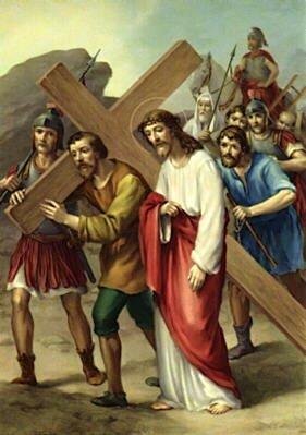 5 Symon de Cyrène aide Jésus à porter la Croix