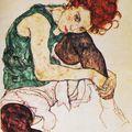 Femme assise à la jambe repliée, Egon Schiele
