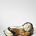 A Changzhi painted lady-form pillow, Jin dynasty (1115-1234)