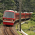 Izukyu Resort 21 Kinme train, Izu-Kogen