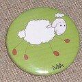 Mouton ficelle - Badge rond grd. modèle