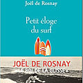 Petit éloge du surf : le scientifique joel de rosnay évoque sa passion ultime