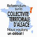 Collectivité territoriale d'alsace :- referendum du 7 avril 2013