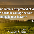 Citation amour & courage