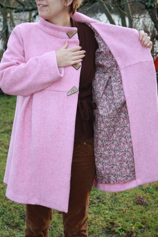 future maman : intérieur du manteau
