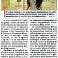 Notre artiste phare phet cheng suor fait parler la provence !
