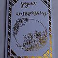 Des cartes de voeux et d'anniversaire avec du foil transfer