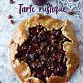 Tarte rustique figues et prunes