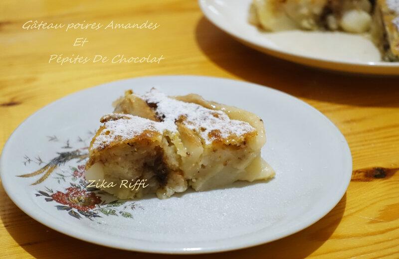 gâteau poires pépites chocolat2