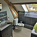 Le Clos de la Tourelle à Arcis le Ponsart - Gîte en Champagne -Salle de bain vue jardin