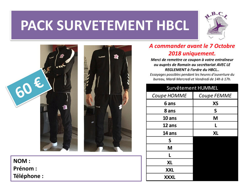 PACK SURVETEMENT HBCL