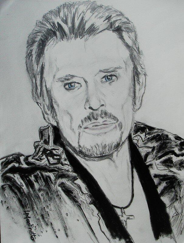 Johnny Hallyday Photo De Portraits De Celebrites Au Crayon Peintures De Lmartinetto