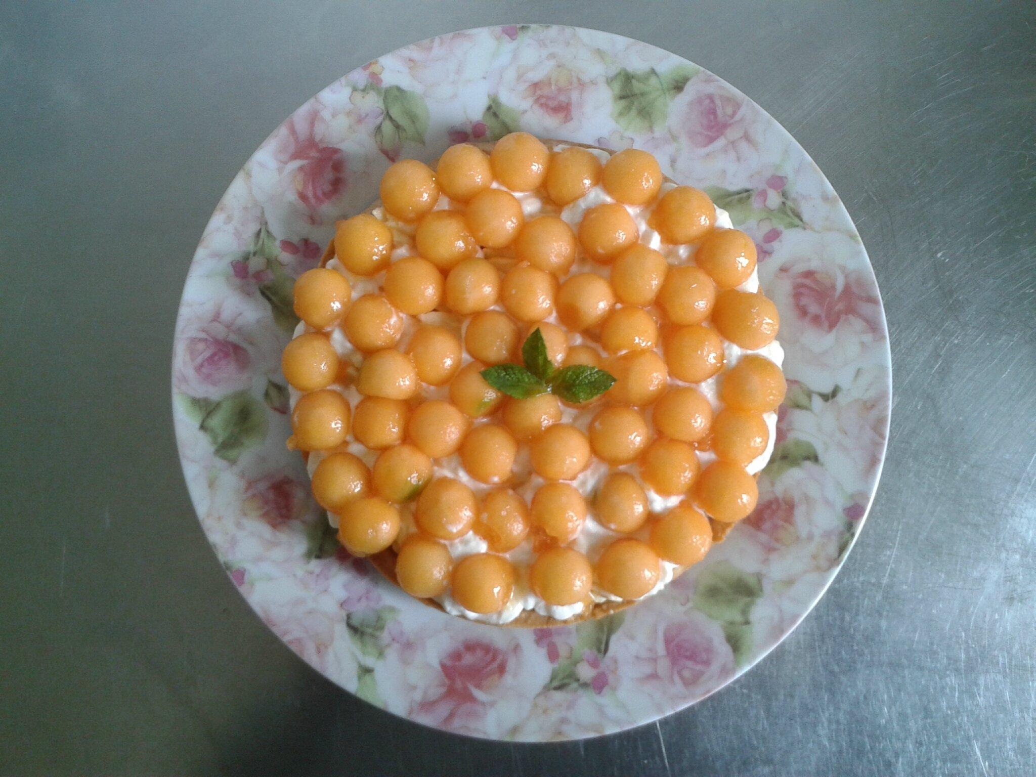 dessert d'été Tarte au melon des Charentes (du chef Custos)