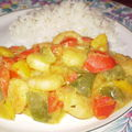 * crevettes coco-curry *