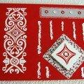 En rouge et blanc ...